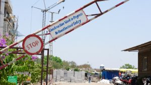 Construction site in India
